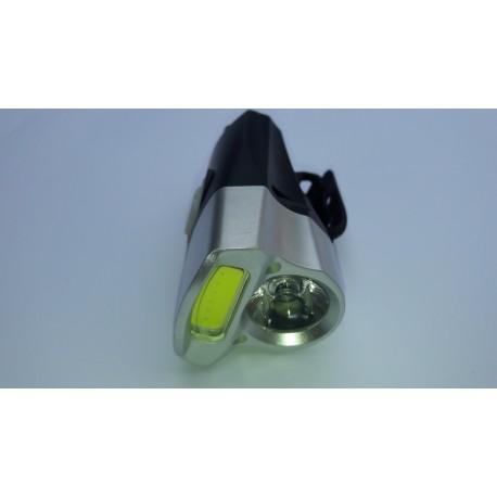 Фонарь велосипедный USB RECHARGEABLE COB LED -360 LUMENS+