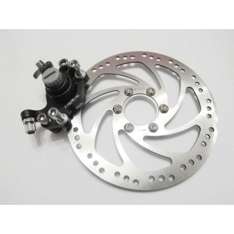 тормозной диск + супорт SHUNFENG (140,160)